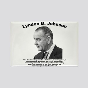LBJ: Challenge Rectangle Magnet